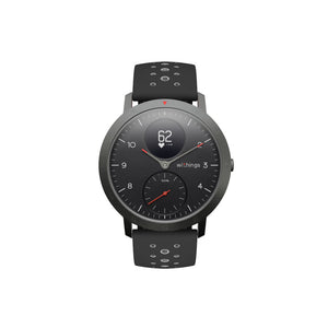 Withings Steel Sport Hybrid Smartwatch with Heart Monitoring Fitness Activity Tracking & GPS - Black
