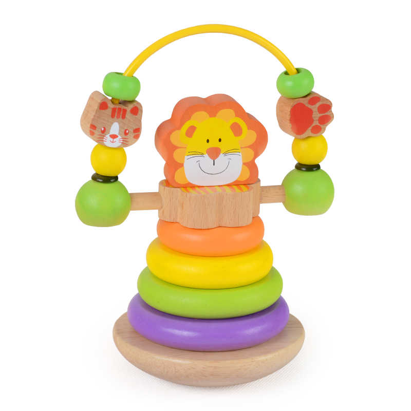 KidUs Lion Stacker with Bead Fun