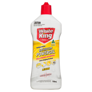 White King: Multipurpose Lemon Bathroom Powergel (750ml)
