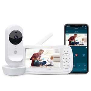"Motorola Ease44CONNECT Wi-Fi Video Baby Monitor with 4.3"" HD Color Screen"