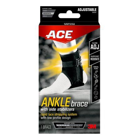 ACE™: Ankle Brace with Side Stabilisers (Adjustable)