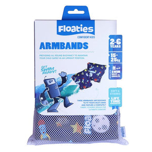 Floaties Kids' Armbands - Blue Rocket Ship 2-6 years