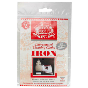 2 x Ashley-Mill Impregnated Cleaning Cloth For Iron 2 Pk