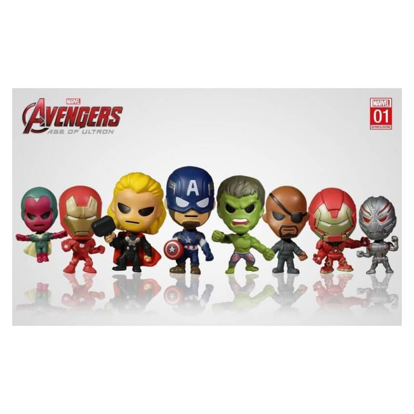 3 x Marvel Avengers - Domez Series 1 Assorted