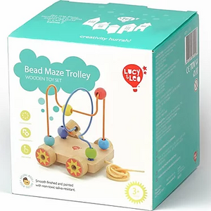 Lucy & Leo Bead Maze Trolley Wooden Toy Set