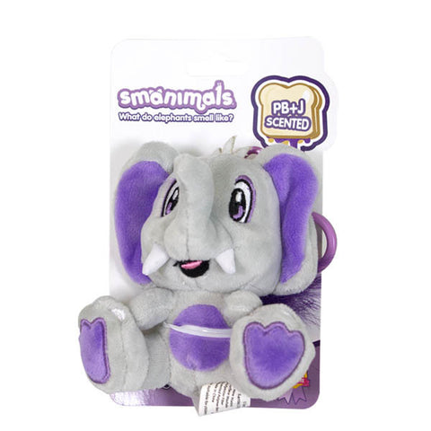 Smanimals Scented Plush Animals With Backpack Clip
