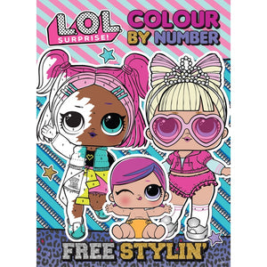 L.O.L Surprise Colour By Number Free Styling' Colouring Book