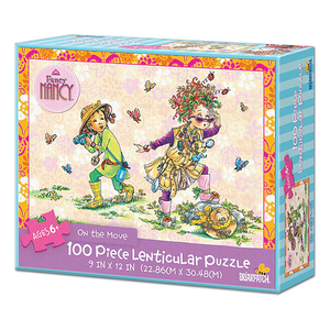 Fancy Nancy on the move 100 Piece Lenticular Puzzle