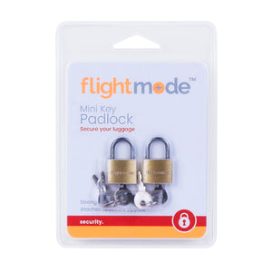 Flightmode Mini Key Brass Padlocks
