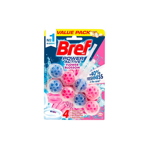 Bref Power Active Toilet Block Flower Blossom 2 Pack