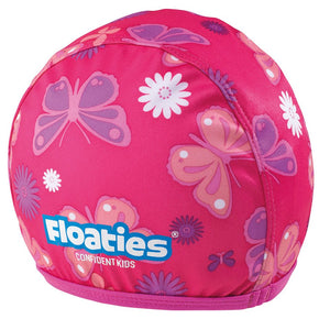 Floaties Girls' Swimcap - Pink Butterfly