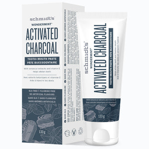 Schmidt's Tooth + Mouth Paste Wondermint with Activated Charcoal - 133g