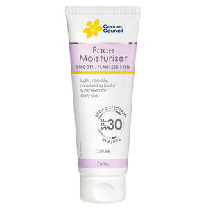 3 x Cancer Council Face Tinted Moisturiser Clear Spf 30 75ml