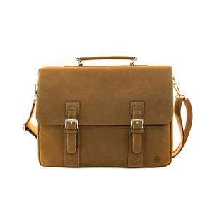 Jack Bee Collins Leather Messenger Bag