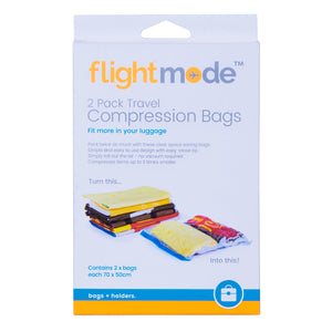Flightmode 2 Pack Travel Compression Bags