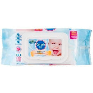 2 x Curash Protect Baby Wipes - 80 Pack