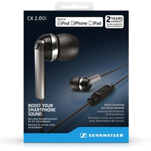 Sennheiser CX2.00i In-Ear Headphones (Black)