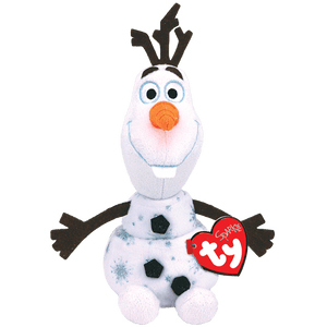 "Ty Beanie Babies Collection 7"" Frozen 2 Olaf The Snowman Sparkle Plush Toy"