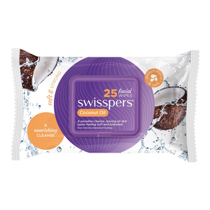 Swisspers Coconut Oil Facial Cleansing Wipes (PK 25)