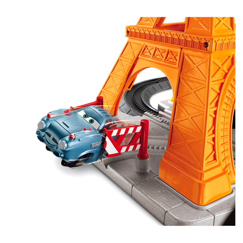 Fisher Price GeoTrax Disney Cars 2 Eiffel Tire Crash
