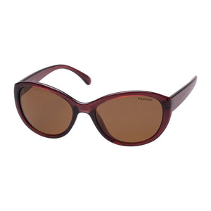 Cancer Council Erina Crystal Wine/Brown Polarised Sunglasses