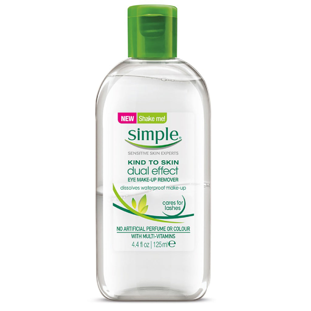 Simple Dual Effect Eye Make-Up Remover 125mL