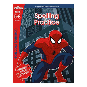 Spider-Man- Spelling Practice - Learning Workbook (Ages 5-6)