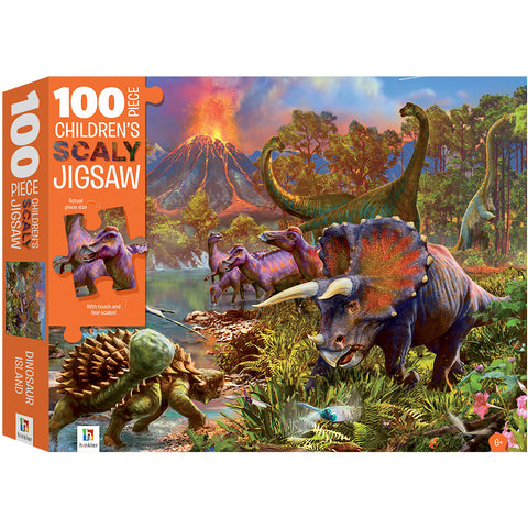 Dinosaurs 100 PIECE TEXTURED CHILDREN'S JIGSAW PUZZLE