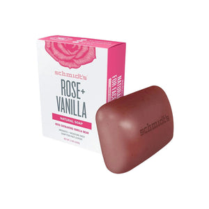 Schmidt's Rose + Vanilla Natural Soap 142g