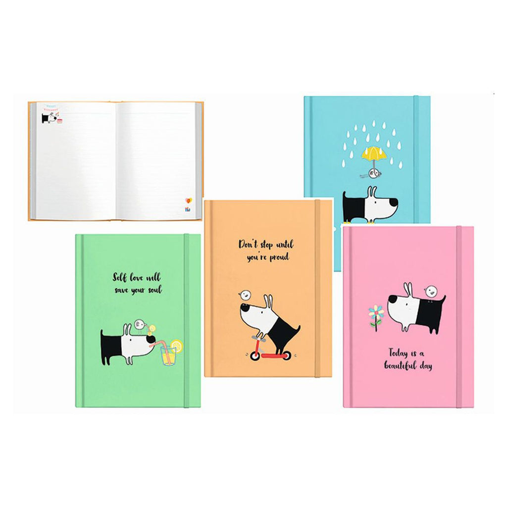Milford Bird & Dog Hardcover A5 Journal (4 Pack)