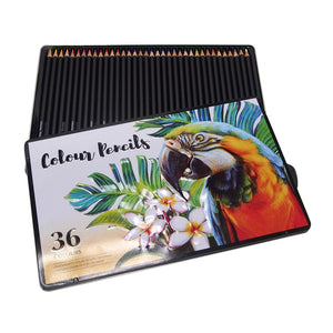 36 Pack Professional Colour Pencils Tin Smooth Sales