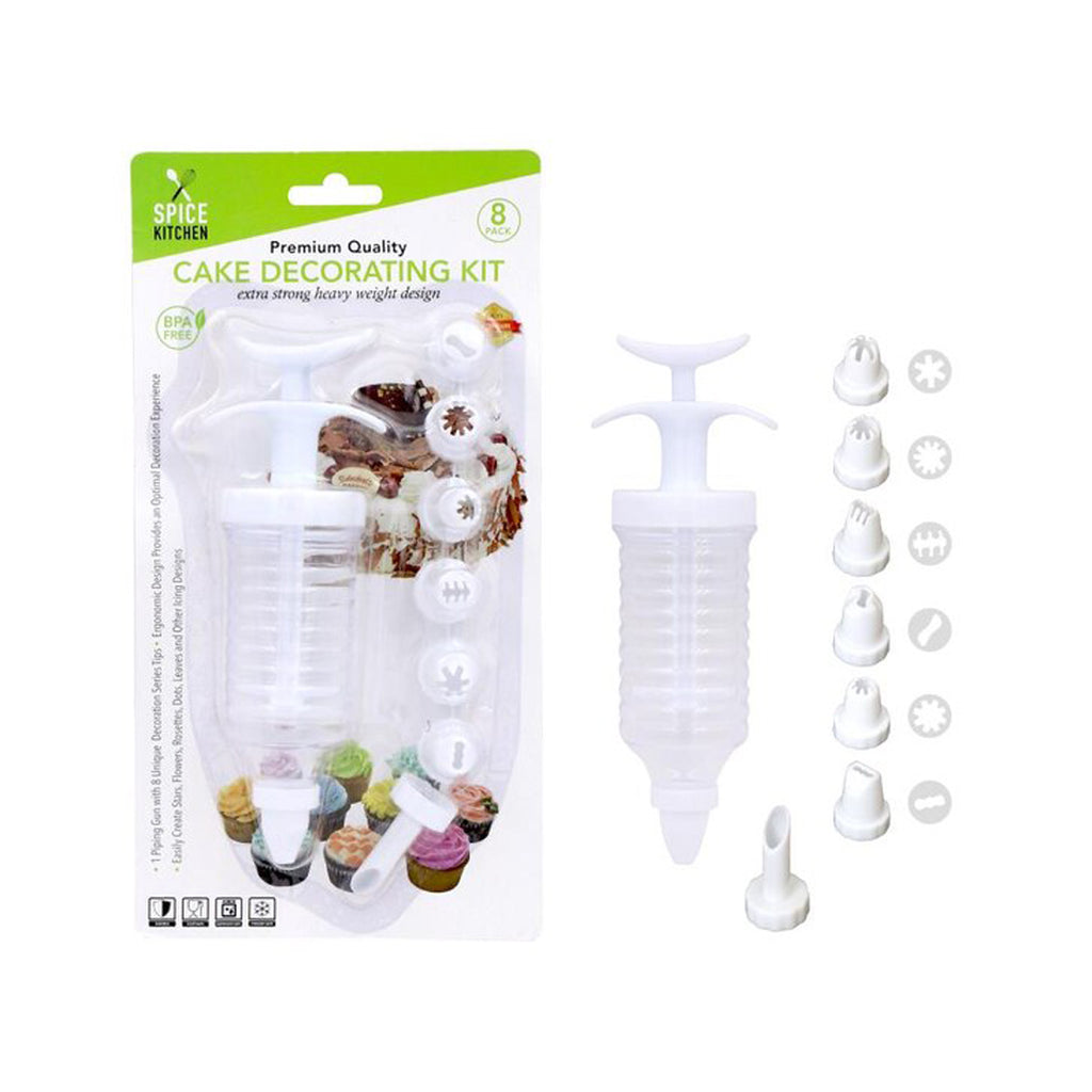 Cake Decoration Piping Kit - 8 Piece