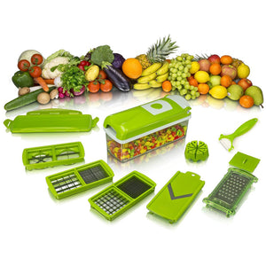 Vegetable & Fruit Slicer Dicer 13pc (With Bonus Peeler)