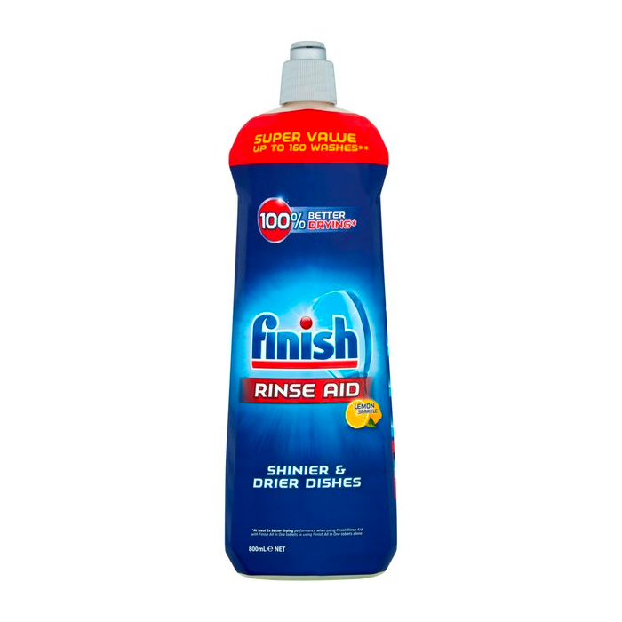 2 x Finish Shine & Protect Rinse Aid Lemon Sparkle 800ml Smooth Sales