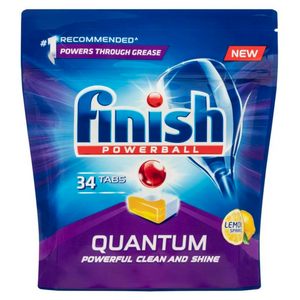 2 x Finish Powerball Quantum Dishwasher Tablets Lemon 34 pack