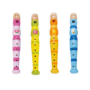 Classic Word Kids Colorful Wooden Flute