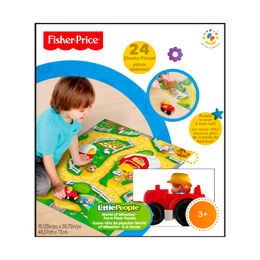 Fisher Price Little People World Of Wheelies Floor Puzzle