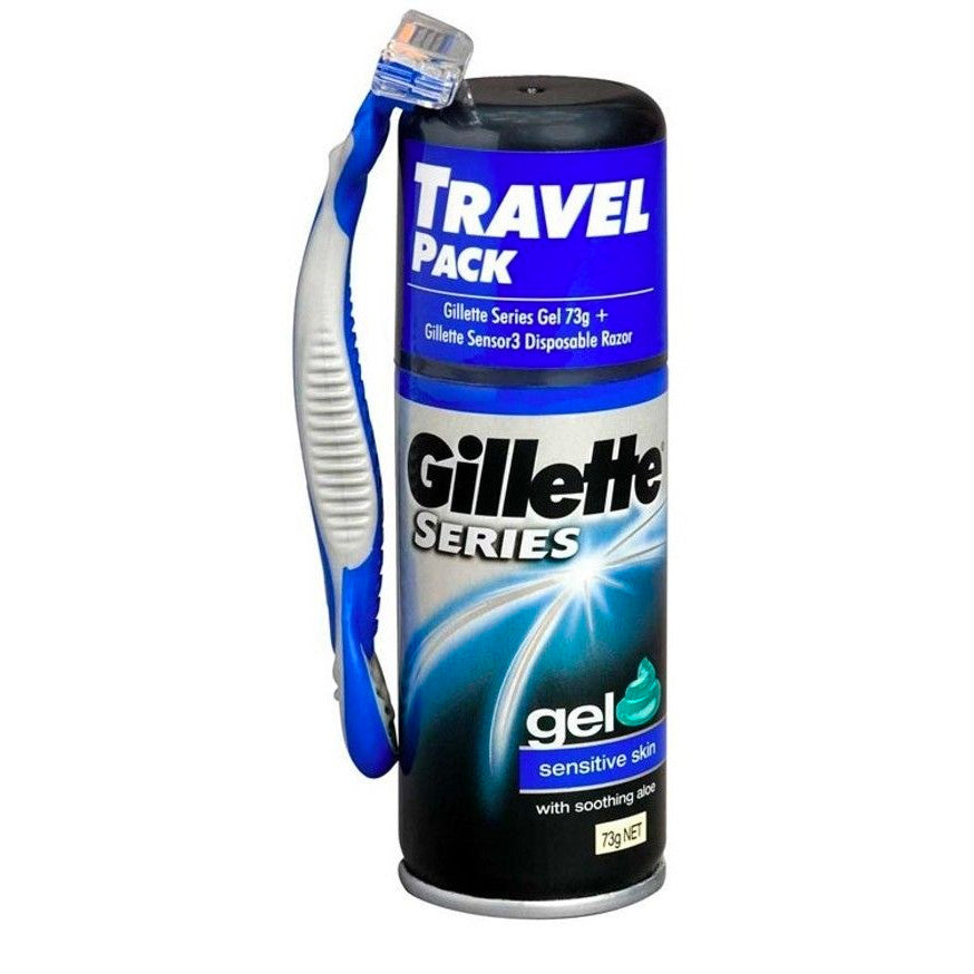 Gillette Series Mini Gel and Gillette Sensor 3 Disposable Razor