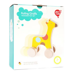 Lucy & Leo Rolling Giraffe Wooden Toy Set