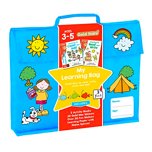 Gold Stars My Learning Bag Ages 3-5: Learn How to Read, Write, Count and Add
