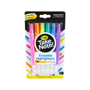Crayola Take Note! Erasable Highlighters 6-Pack
