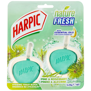 Harpic Nature Fresh Hygienic Toilet Block Pine & Rosemary 2 Pack