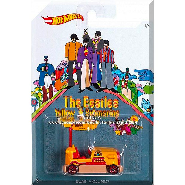 Hot Wheels Beatles Yellow Submarine Assorted
