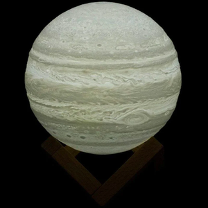 3D Textured LED Lamp W/ Wooden Stand - Jupiter