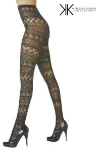 Kardashian Kollection Tights - Geometric Net
