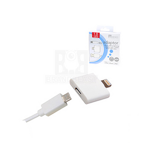 Aerpro Micro USB To Lightning Adaptor With Micro USB 1 Metre Cable