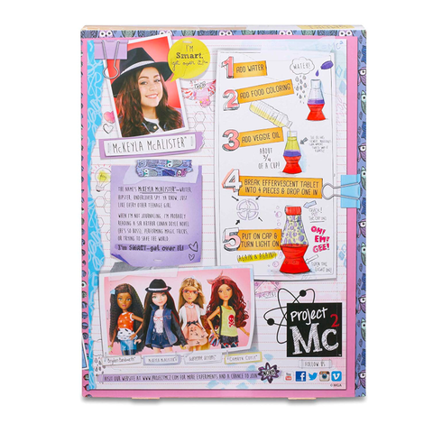 Project Mc2 Experiment with Doll - McKeyla's Lava Light