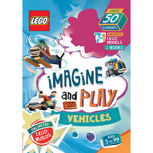 Lego Imagine And Play 7-In-1 Book + Activity Pack - Vehicles
