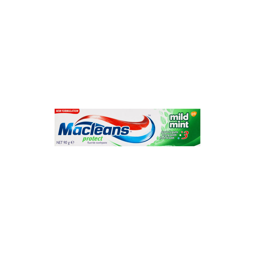 3 x Macleans Mild Mint Protect Toothpaste 90g - Smooth Sales