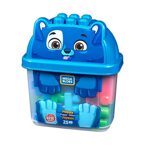 Mega Bloks Animal Bucket - Happy Puppy